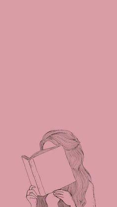 Pin by arika uddin on line/ ink art in 2019 милые обои, рису Cartoon Wallpaper, Book Wallpaper, Cute Wallpaper Backgrounds, Tumblr Wallpaper, Girl Wallpaper, Cute Wallpapers, Reading Wallpaper, Pink Wallpaper Iphone, Wallpaper Wallpapers