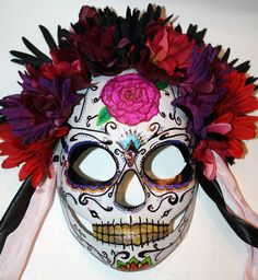 DIA De Los Muertos Crafts | Calavera Mask 2 - Dia de los Muertos by =LilBittyFish on deviantART - love this