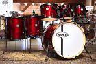 Mapex Horizon Birch Drum Set w/ Steel Hammered Snare Trans Cherry - Blowout Drum Sets For Sale, Birch, Drums, Cherry, Steel, Percussion, Drum, Prunus, Drum Kit