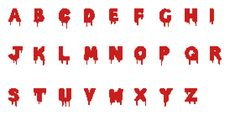 Rocky Horror Picture Show Blood Splatter Cross Stitch Alphabet (1.99 USD) by Jezebelzombie