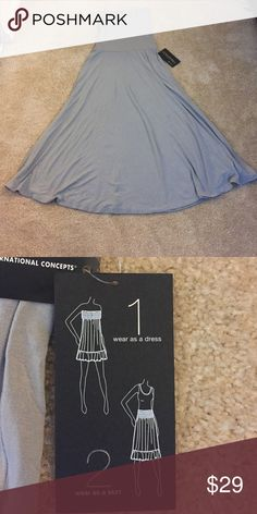 Convertible Grey Skirt Dress See pic 2 for details, new with tags INC International Concepts Dresses