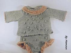 Ensemble bébé brassière et  culotte cache couche 0-3 mois