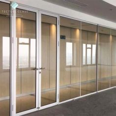 Tecture Commercial use office double glazed partition glass wall system Glass Wall Systems, Glass Partition, Commercial Furniture, Guangzhou, Dividers, Wall Design, Office Furniture, Interior Design, Home Decor
