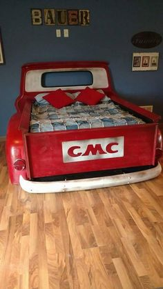 The Best Auto Repair Information In The World – Automotive Car Part Furniture, Automotive Furniture, Automotive Decor, Automotive Design, Automotive News, Furniture Ideas, Man Cave Garage, Garage Bar, Truck Toddler Bed