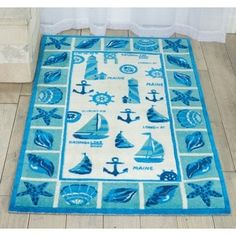 Shop for Shoreline Lighthouse and Boat Ivory/ Blue Polyester Rug (8' x 10'). Get free shipping at Overstock.com - Your Online Home Decor Outlet Store! Get 5% in rewards with Club O!