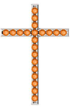 Orange topaz cross pendant in white gold set with genuine Swarovski orange topaz gemstones. Topaz Jewelry, Silver Jewelry, Topaz Gemstone, Cross Pendant, Cross Necklaces, White Gold, Sun, Orange, Gemstones