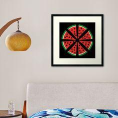 """Watermelon Slices"" Framed Art Print by Pultzar   Redbubble"