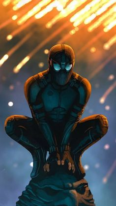Spider-Man - Stealth Suit, Far From Home Amazing Spiderman, Spiderman Art, Marvel Dc Comics, Marvel Heroes, Marvel Avengers, Mundo Comic, Marvel Wallpaper, Marvel Movies, Marvel Cinematic Universe