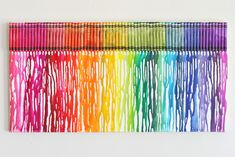 How To Make Melted Rainbow Crayon Art - Glorious Treats