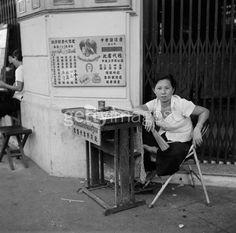 BKK Lottery Vendor of 1955  This photo and stack of good Thailand Info @ http://islandinfokohsamui.com/