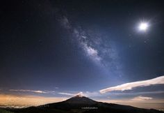 Milky way over the Popocatepetl with moon  Great EVet with the Milkywhat and the…