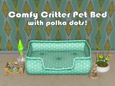 :DI had no idea that you have a birthday today until I saw the lovely gift that Hadjer made this morning, so I quickly made a teeny-weeny gift, I hope you and all of the Rosettes will love these recolors ^^ (Pets EP req The Sims 2, Sims Cc, Pet Beds, Dog Bed, Sims 2 Pets, Sims 4 Cc Packs, Rug Texture, Sims 4 Build, Sims 4 Game