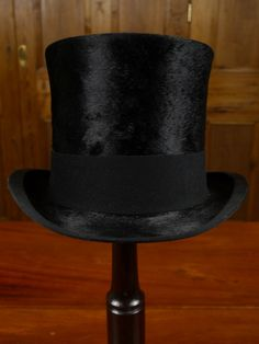 EXCELLENT 1920S ANTIQUE SILK TOP HAT TOPPER ROYAL ASCOT 56CMS