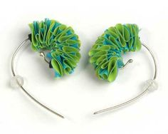 Rachel Darbourne - plastic bags earrings  http://www.racheldarbourne.co.uk/