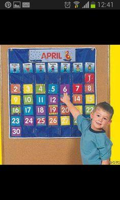 Nylon Classroom Calendar Pocket Chart by Fun Express Homeschool Supplies, Classroom Supplies, Classroom Decor, Classroom Board, Craft Supplies, Daycare Organization, Cool Office Supplies, Classroom Calendar, Family Schedule
