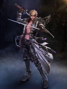 Two Sword Man 3D Art by Sim Insu – zbrushtuts