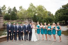 A modern, teal Washington DC wedding at the Westin in Georgetown | Images: Ken Pak Photography