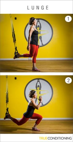 Improve your balance and tone your legs with the TRX Lunge.