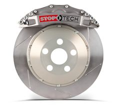 StopTech Trophy BBK - Calipers are naturally anodized to resist color change and machined for improved aesthetics and reduced weight. Patented AeroRotors offer optimal heat dissipation and two-piece construction for better performance under high temperature operation. The ultimate street or track big brake kit, available in Trophy for the track and Trophy Sport for the street.
