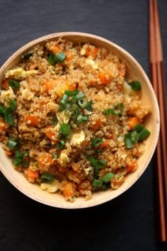 Quinoa Fried Rice Recipe - healthier version of white rice, very tasty