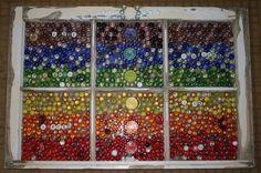 Glass mosaic window frame, chakra art, chakras mosaic by dianeziegler on Etsy Mosaic Art, Mosaic Glass, Stained Glass, Window Art, Window Frames, Window Ideas, Chakra Art, Vintage Windows, Rustic White