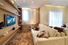 Living ampliado do apartamento de 2 dormitórios do Passeio Vila Leopoldina