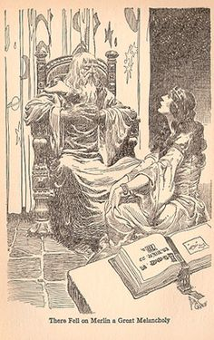 There Fell on Merlin a Great Melancholy by Elizabeth Lodor Merchant (1889-1959),
