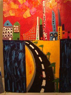 For Wayne Thiebaud lesson Elementary Art Lesson Plans, Teaching Art, Teaching Ideas, Abstract City, 5th Grade Art, Arts Ed, High Art, Art Classroom, Art Plastique