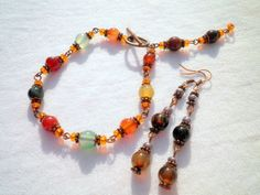 Colorful Agate Bracelet and Earrings Set from juta ehted - my jewelry shop by DaWanda.com
