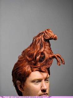 this guy needs to get together with giraffe-hair  girl