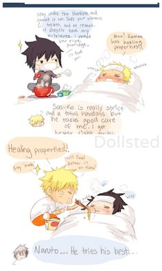 How do you and Naruto take care of eachother if you're sick? [again I don't ship sasunaru but I love this mini strip xD]