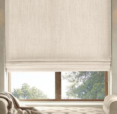 Belgian Heavyweight Textured Linen Flat Roman Shade