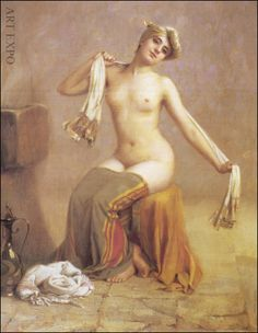 Painting by Greek artist Theodorus Rallis Sound Of Rain, Greek Art, Classical Art, Figure Painting, Van Gogh, Female Art, Modern Art, Art Gallery, Statue