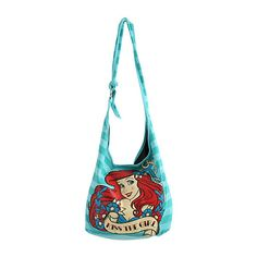 Disney The Little Mermaid Kiss The Girl Hobo Bag | Hot Topic ($13) ❤ liked on Polyvore featuring bags, disney and mermaid