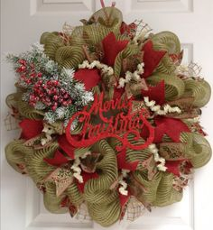 Hey, I found this really awesome Etsy listing at https://www.etsy.com/listing/213688174/merry-christmas-natural-green-burlap