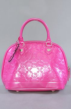 The Hello Kitty Embossed Bowler Bag in Pink