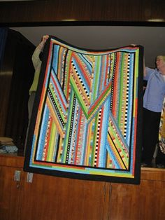 """""""Just suppose (juxtapose) - Margaret Duncan  The quilt is for my step-granddaughter's 13th birthday. It was inspired by a quilt in Yvonne Porcella's 'A Colourful Book'. It was foundation pieced with an extra panel on the back because I was short of the backing fabric!"""""""