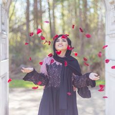 ❤ Black hellebore scarf from the cotton collection is back in stock only on www.com get your hands on it… Iranian Women Fashion, Muslim Fashion, Hijab Fashion, Modest Fashion, Muslim Girls, Muslim Women, Hijab Makeup, Hijab Cartoon, Bridal Poses