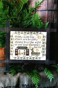 """""""The Stars Are Brightly Shining"""" is the title of this cross stitch pattern from Heartstring Samplery that is stitched with Gentle Art Sampler threads"""