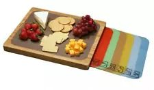 Seville Classics Easy-to-Clean Bamboo Cutting Board and 7 Color-Coded Flexible Cutting Mats with Food Icons Set | eBay
