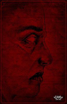 """Ilustración inspirada en el cuento """"La máscara de la muerte roja"""" de Edgar Allan Poe"""