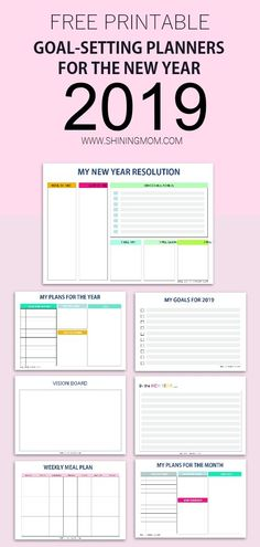 Free New Year Goal Setting Planner to help you start the year right. Write your resolution, goals, priorities and more!