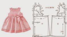 VESTIDO DE CRIANÇA 3 A 4 ANOS COM MEDIDAS - 1 ~ Moda e Dicas de Costura: