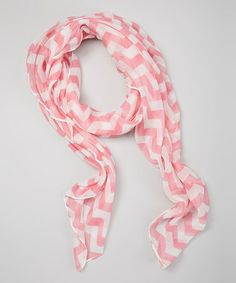 Look at this #zulilyfind! Pink Zigzag Scarf #zulilyfinds
