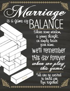 Jenga Guest Book Sign for Wedding or Shower by 4EverNAlways