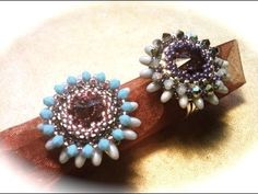 * free Tutorial - Anello Daisy con rizo beads beadwork: ring tutorial with rizo beads