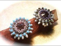 * free Tutorial - Anello Daisy con rizo beads beadwork: ring tutorial with rizo beads