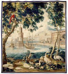 """""""Les Vaisseaux"""" Tapisserie de Beauvais"""