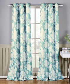 Loving this Sky Blue & Linen Esma Curtain Panel - Set of Two on #zulily! #zulilyfinds