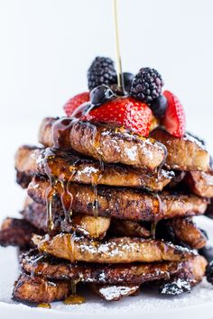 Coffee Caramelized Croissant French Toast Sticks | halfbakedharvest.com
